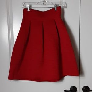 New York & Company  Red Pleated Skirt (S) NWT